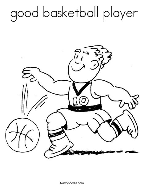 good basketball player Coloring Page - Twisty Noodle