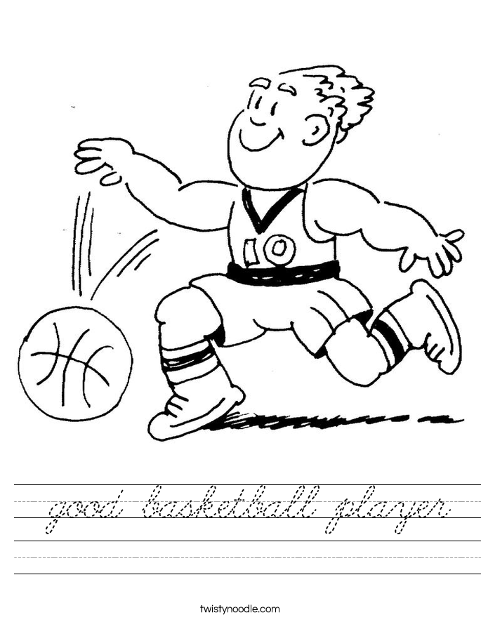 good basketball player Worksheet
