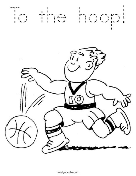 Basketball Player Dribbling Coloring Page