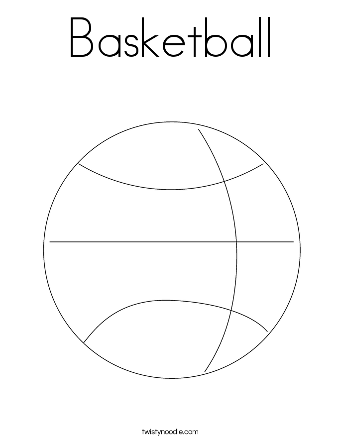 basketball coloring page twisty noodle. Black Bedroom Furniture Sets. Home Design Ideas