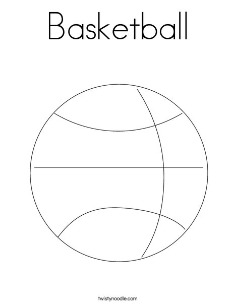 Basketball Coloring Page Twisty Noodle