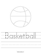 Basketball Handwriting Sheet