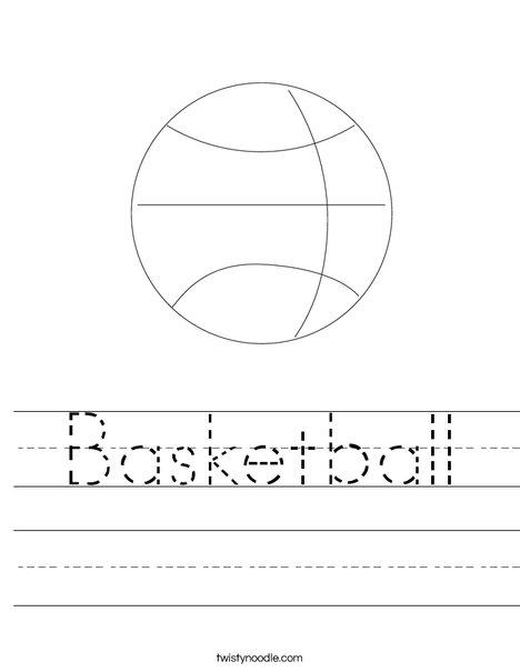 B is for Basketball Worksheet - Twisty Noodle