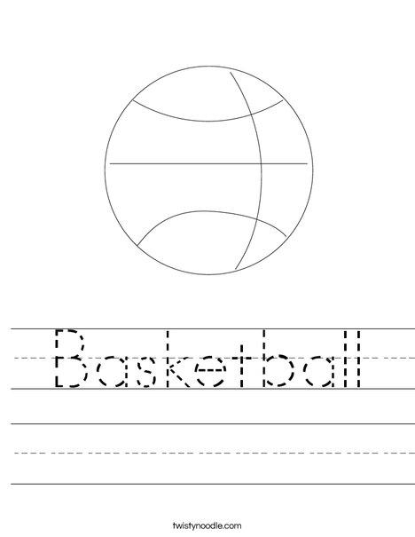 Worksheet: Picture Cloze - Basketball (elem) | abcteach