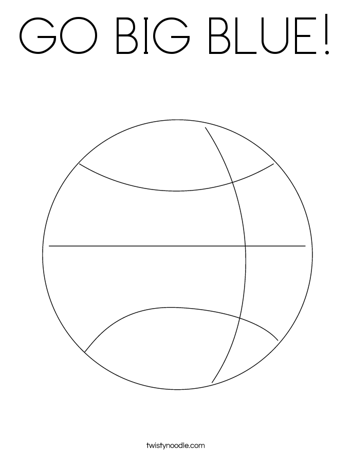 GO BIG BLUE! Coloring Page