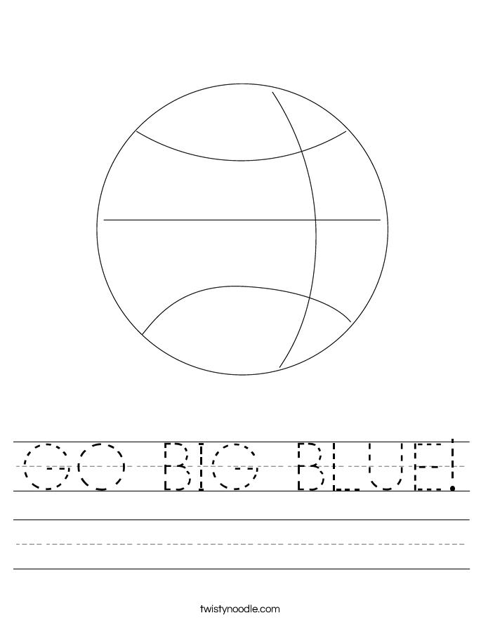 GO BIG BLUE! Worksheet