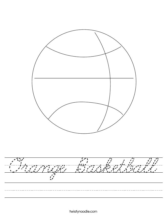 Orange Basketball Worksheet