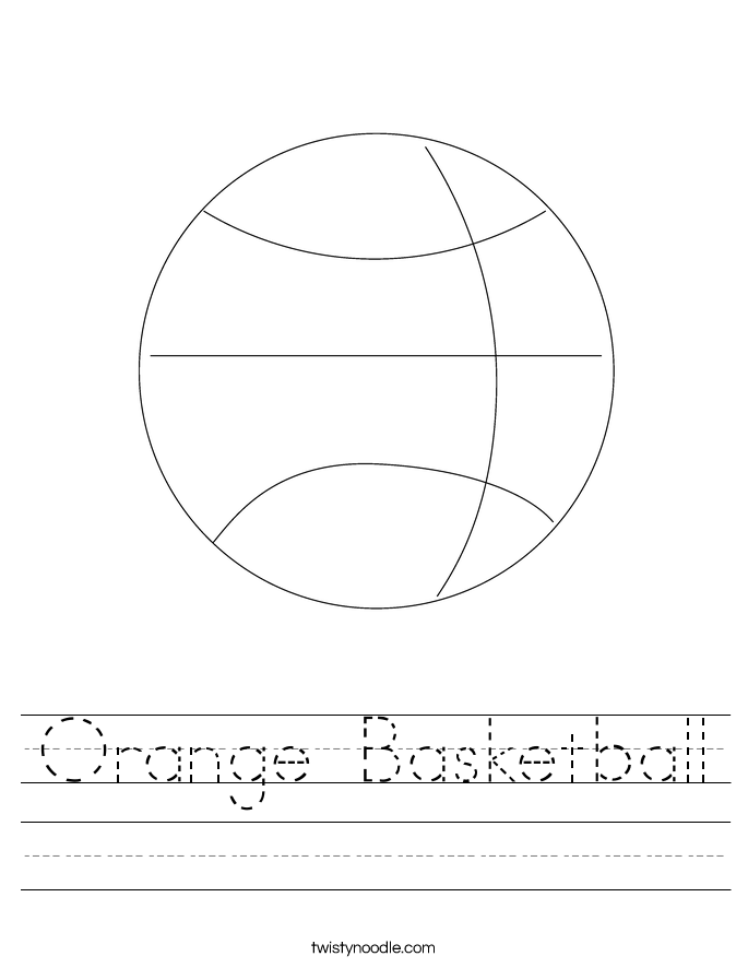 Orange Basketball Worksheet