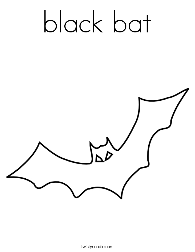 black bat Coloring Page Twisty Noodle