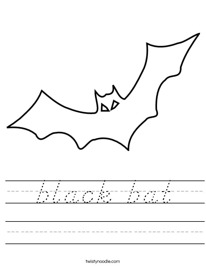 black bat Worksheet