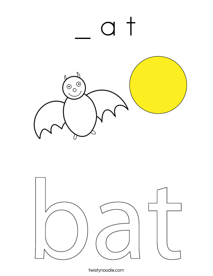_ a t Coloring Page