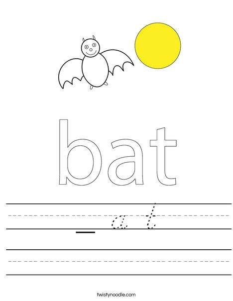 Bat in a circle Worksheet