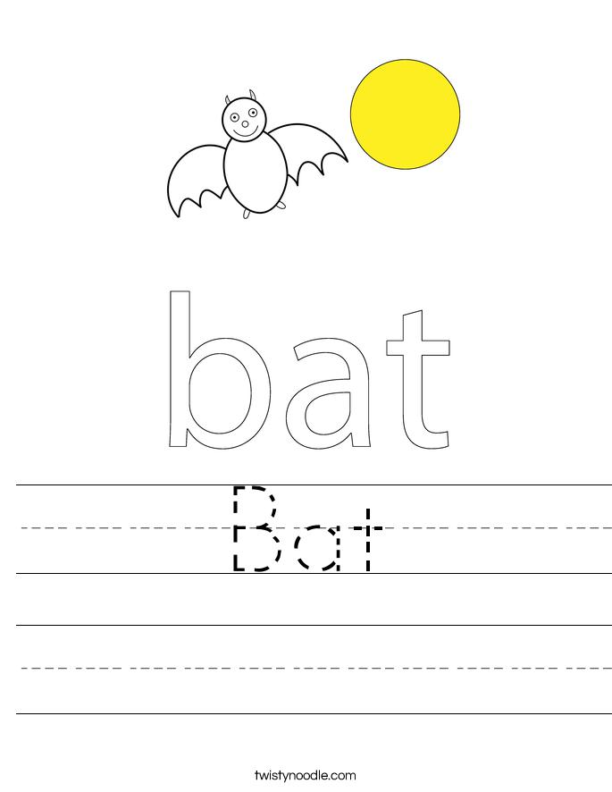 Bat Worksheet