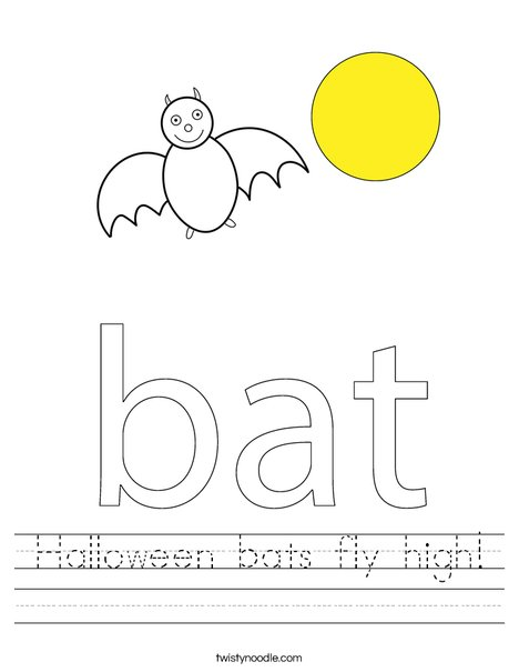Bat in a circle Worksheet