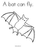 A bat can fly. Coloring Page