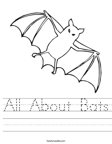 All About Bats Worksheet Twisty Noodle