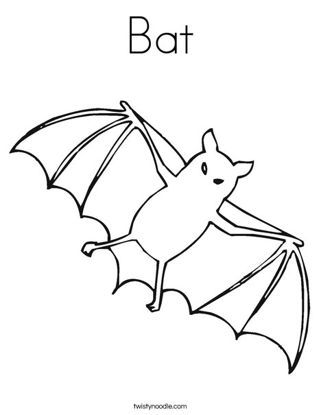 Flying Bat Coloring Page
