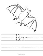 Bat Handwriting Sheet