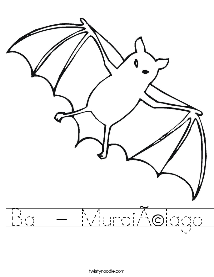 Bat - Murciélago Worksheet