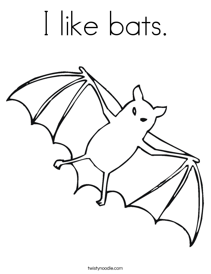 I like bats. Coloring Page