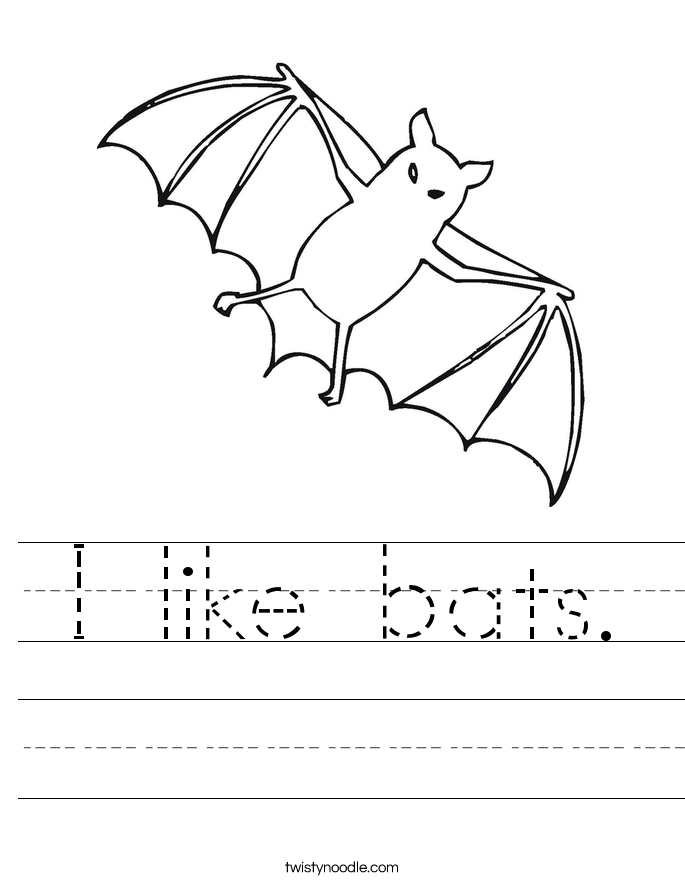 I like bats. Worksheet