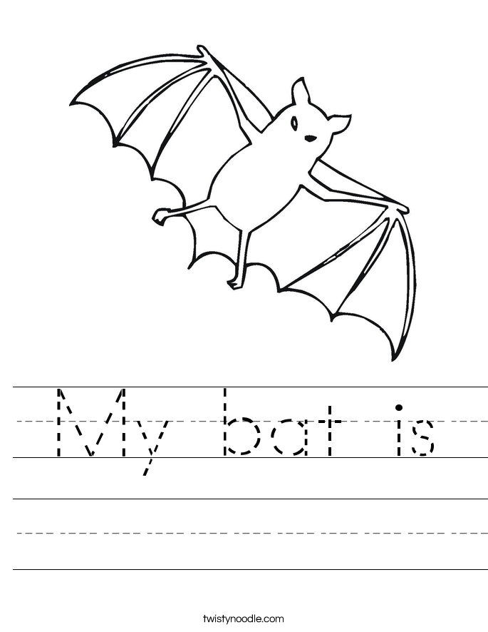 My bat is Worksheet
