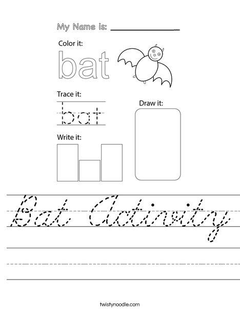 Bat Activity Worksheet