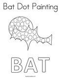 Bat Dot Painting Coloring Page