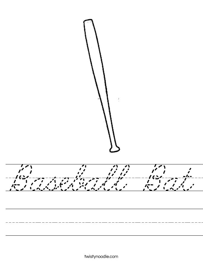 Baseball Bat Worksheet