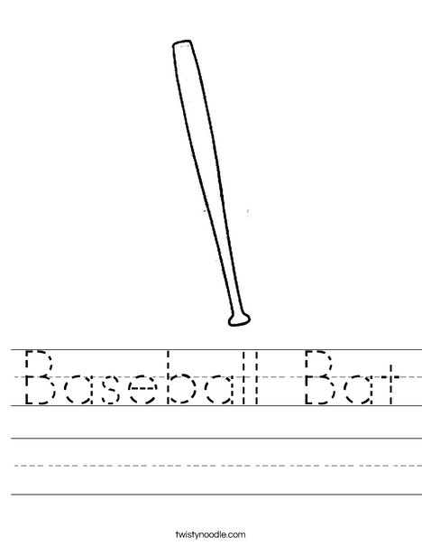 Baseball Bat Worksheet