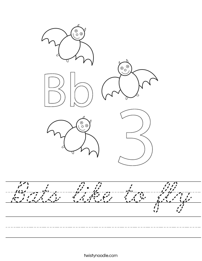 Bats like to fly Worksheet