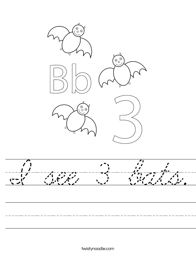 I see 3 bats. Worksheet