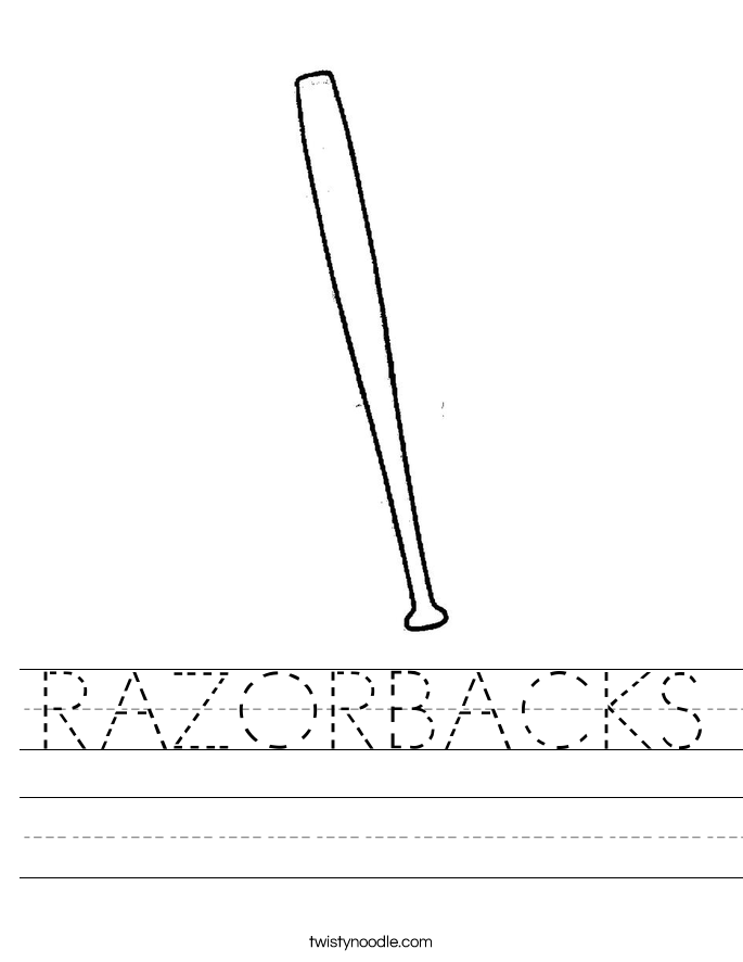 RAZORBACKS Worksheet
