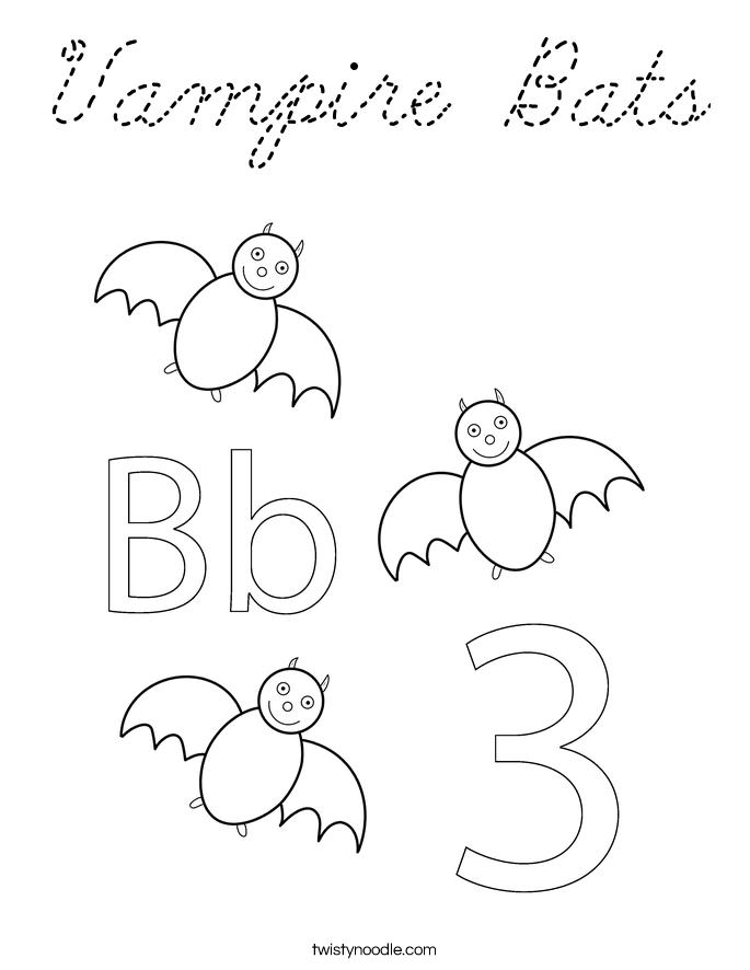 vampire bat coloring page - vampire bats coloring page cursive twisty noodle