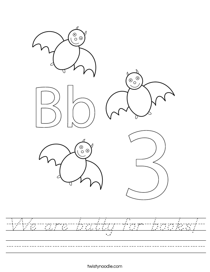We are batty for books! Worksheet