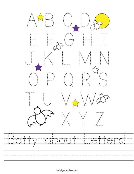 Batty about Letters! Worksheet