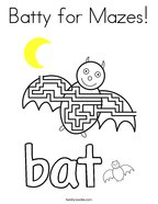 Batty for Mazes Coloring Page