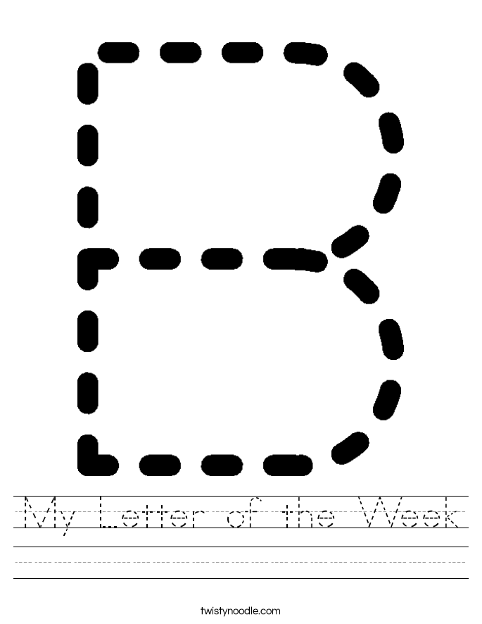 My Letter of the Week Worksheet