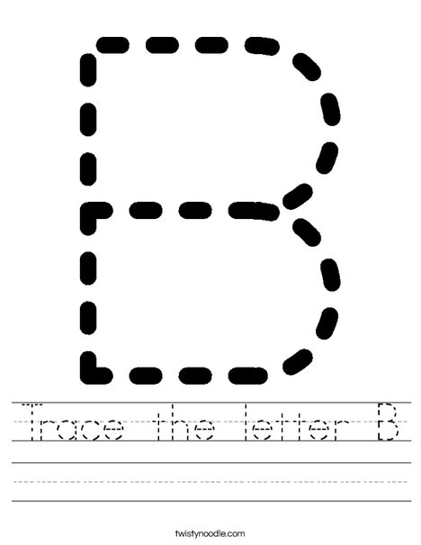 Tracing Letter B Worksheet