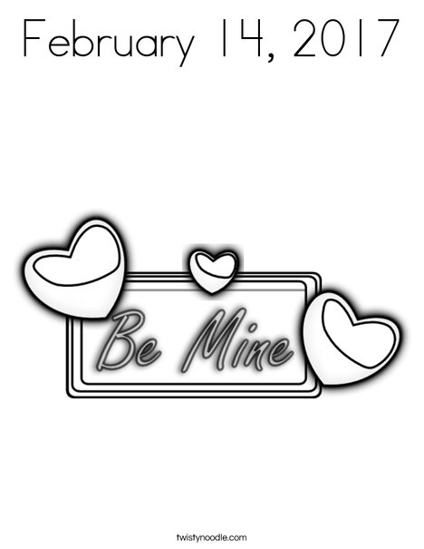 Be Mine Coloring Page