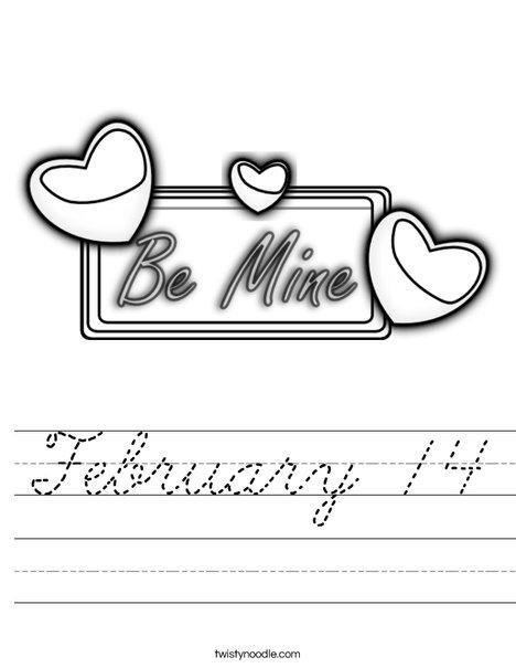 Be Mine Worksheet