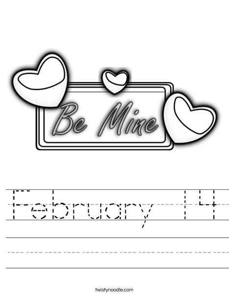Be Mine Worksheet