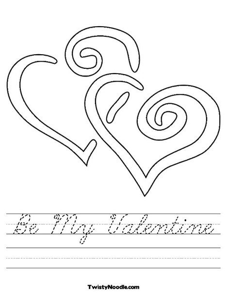 Be My Valentine Worksheet. Print This Page (it'll print fullscreen)