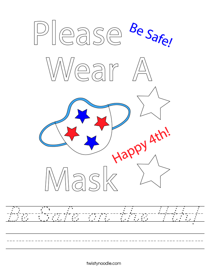 Be Safe on the 4th! Worksheet