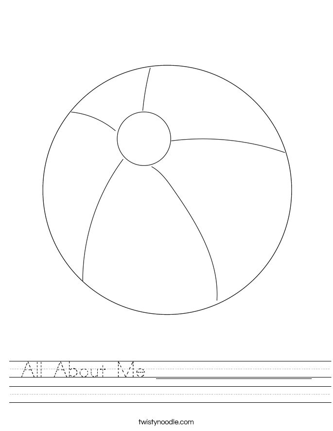 All About Me ________________ Worksheet