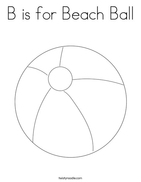 B Is For Ball Coloring Page - Photos Coloring Page Ncsudan.Org