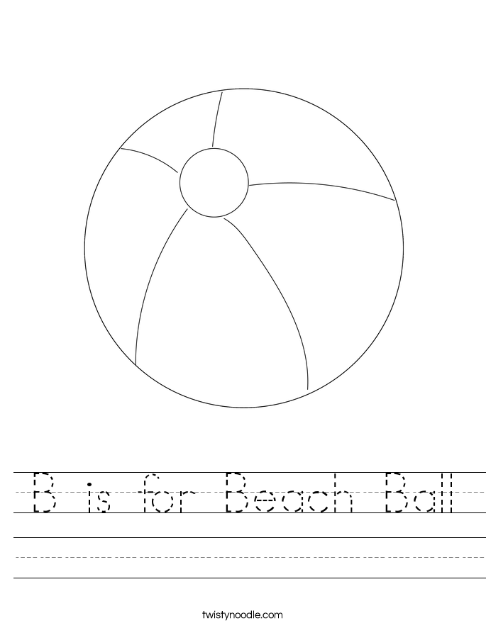 B is for Beach Ball Worksheet