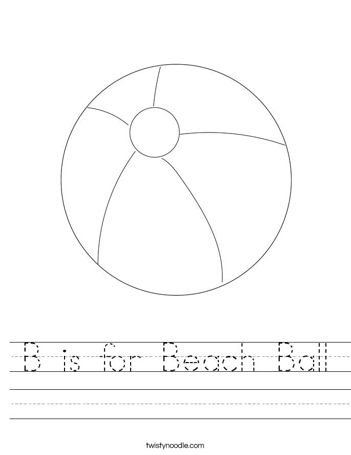 B is for Beach Ball Worksheet