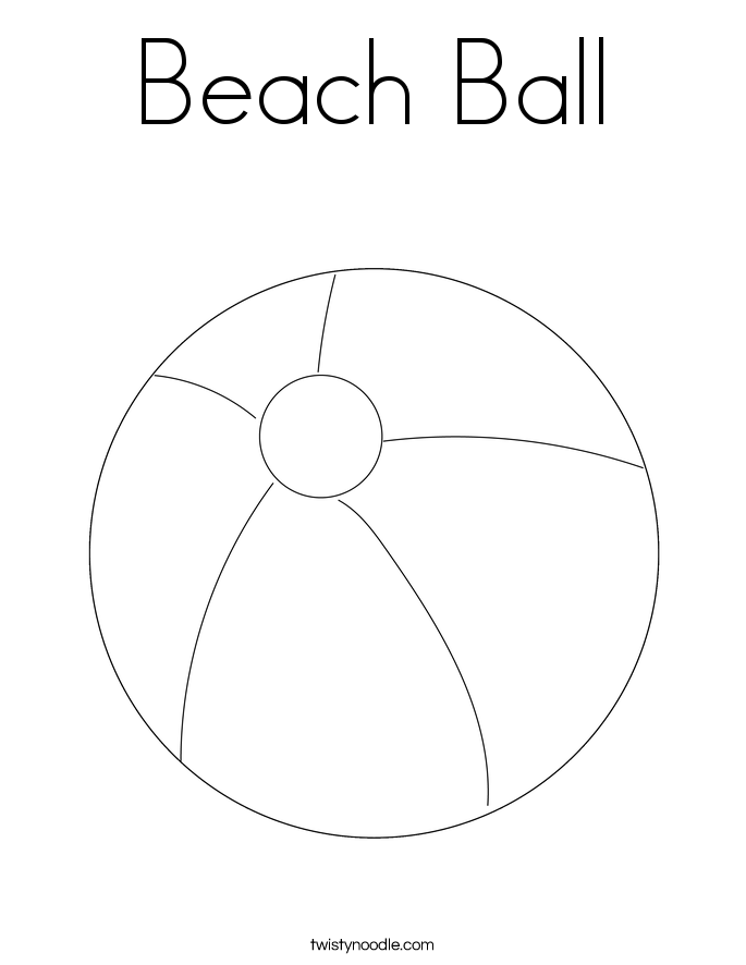 beach ball coloring page twisty noodle