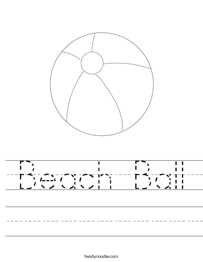 Beach Ball Worksheet - Twisty Noodle